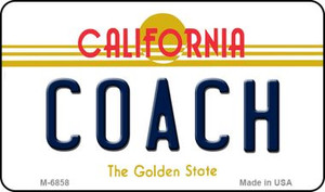 Coach California State License Plate Wholesale Magnet