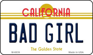 Bad Girl California State License Plate Wholesale Magnet