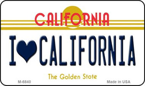 I Love California California State License Plate Wholesale Magnet