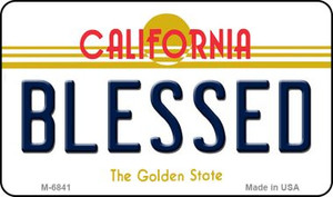 Blessed California State License Plate Wholesale Magnet