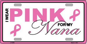 Pink For My Nana Wholesale Metal Vanity License Plate Sign