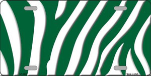 Green White Zebra Print Wholesale Metal Novelty License Plate LP-2906