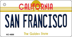 San Fransico California State License Plate Wholesale Key Chain