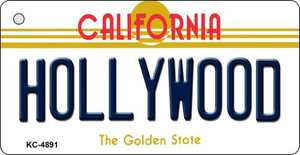Hollywood California State License Plate Wholesale Key Chain