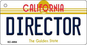 Director California State License Plate Wholesale Key Chain