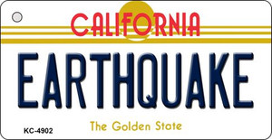 Earthquake California State License Plate Wholesale Key Chain