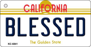 Blessed California State License Plate Wholesale Key Chain