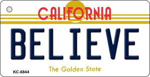 Believe California State License Plate Wholesale Key Chain