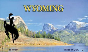 Wyoming Blank State License Plate Wholesale Magnet