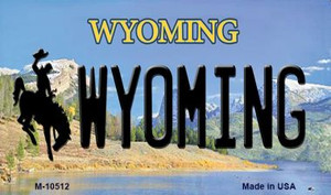 Wyoming State License Plate Wholesale Magnet