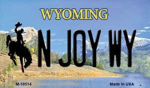 N Joy WY State License Plate Wholesale Magnet