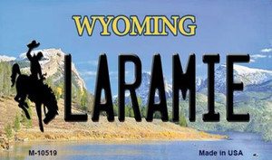 Laramie Wyoming State License Plate Wholesale Magnet