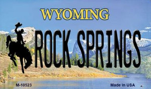 Rock Spring Wyoming State License Plate Wholesale Magnet