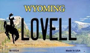 Lovell Wyoming State License Plate Wholesale Magnet