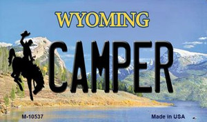 Camper Wyoming State License Plate Wholesale Magnet