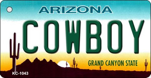 Cowboy Arizona State License Plate Wholesale Key Chain