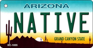 Native Arizona State License Plate Wholesale Key Chain