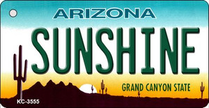 Sunshine Arizona State License Plate Wholesale Key Chain