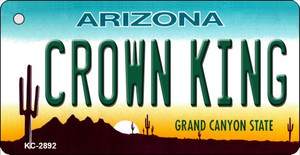 Crown King Arizona State License Plate Wholesale Key Chain