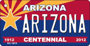 Arizona Centennial State License Plate Wholesale Key Chain