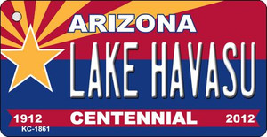 Lake Havasu Arizona Centennial State License Plate Wholesale Key Chain