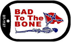 Bad To The Bone Dog Tag Kit Metal Novelty Necklace Wholesale