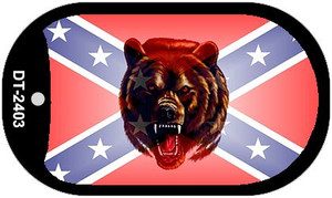 Confederate Bear Dog Tag Kit Novelty Wholesale Necklace