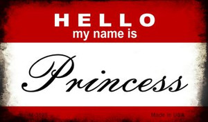 Hello My Name Is Princess Wholesale Magnet