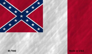 Third Confederate Flag Novelty Wholesale Magnet