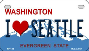 I Love Seattle Washington Background Wholesale Novelty Motorcycle License Plate