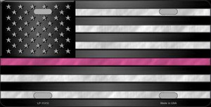 Thin Pink Line Novelty Wholesale License Plate