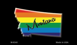 Montana State Outline Rainbow Wholesale Magnet