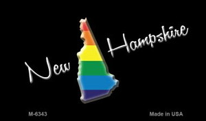 New Hampshire State Outline Rainbow Wholesale Magnet