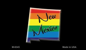 New Mexico State Outline Rainbow Wholesale Magnet