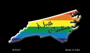 North Carolina State Outline Rainbow Wholesale Magnet