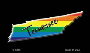 Tennessee State Outline Rainbow Wholesale Magnet