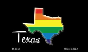 Texas State Outline Rainbow Wholesale Magnet