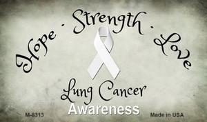 Lung Cancer Ribbon Wholesale Novelty Magnet M-8313