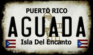 Aguada Puerto Rico State License Plate Wholesale Magnet