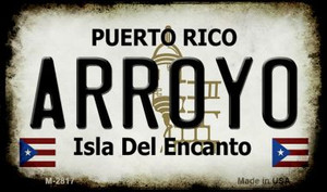 Arroyo Puerto Rico State License Plate Wholesale Magnet