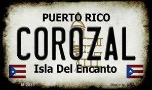 Corozal Puerto Rico State License Plate Wholesale Magnet
