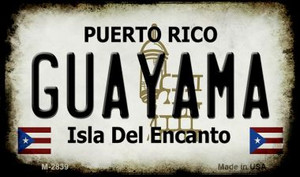 Guayama Puerto Rico State License Plate Wholesale Magnet