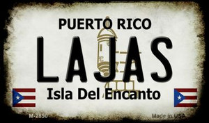 Lajas Puerto Rico State License Plate Wholesale Magnet