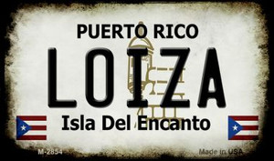 Loiza Puerto Rico State License Plate Wholesale Magnet