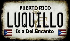 Luquillo Puerto Rico State License Plate Wholesale Magnet