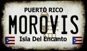 Morovis Puerto Rico State License Plate Wholesale Magnet