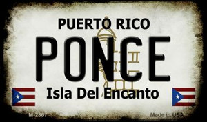 Ponce Puerto Rico State License Plate Wholesale Magnet M-2867