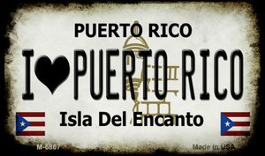 I Love Puerto Rico Puerto Rico State License Plate Wholesale Magnet M-6867