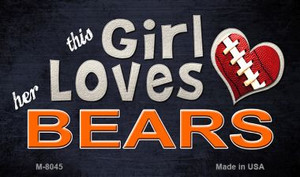 This Girl Loves Her Bears Wholesale Magnet M-8045