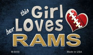 This Girl Loves Her Rams Wholesale Magnet M-8059